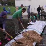 IMAG0092 Kienan Gypsy Keith working on spreading mulch 19 April 2014