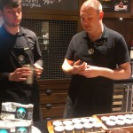 IMAG0168 EOliveWay - Jordan and Topher lead coffee seminar - 21 April 2014
