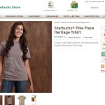 Pike Place Shirt on Starbucks Store website