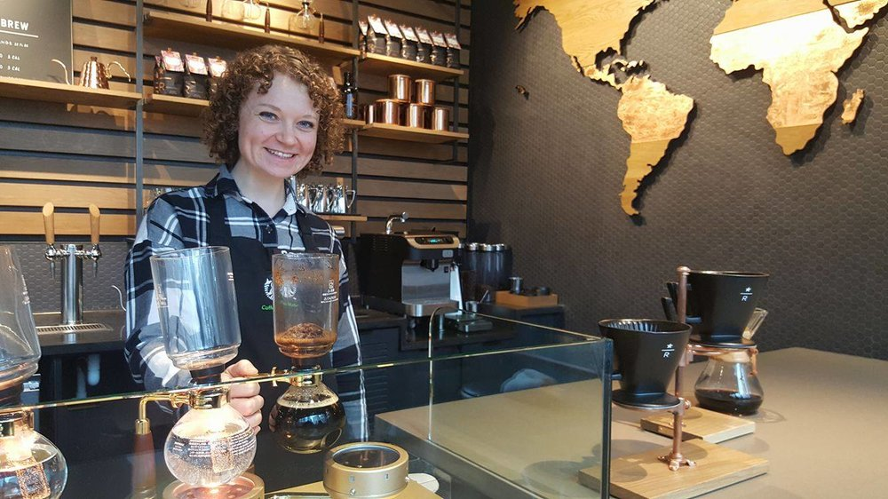 2017 Feb 27 Store Manager Bri at the Experience Bar 1st and University Starbucks