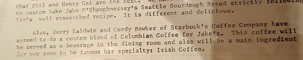 1 - 1 - 20160212_180307 original 1974 letter Jake's Blend - Caffe Verona