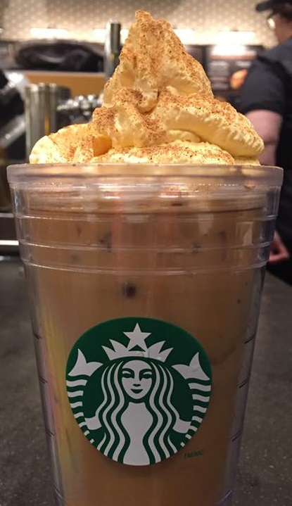 PSL with pumpkin spice whipped cream chicago megan