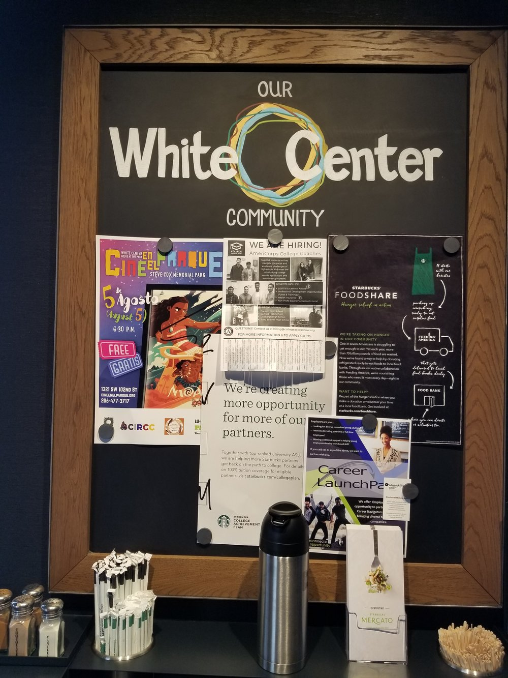 2017 August 05 White Center Starbucks community board.jpg