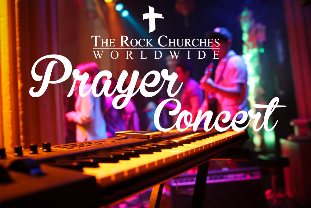 祷告音乐会 - 这是你前所未见的最大最疯狂的派对——磐石教会祷告音乐会,就在每月的第一个星期二!加入我们尽情地赞美上帝赞美主耶稣吧