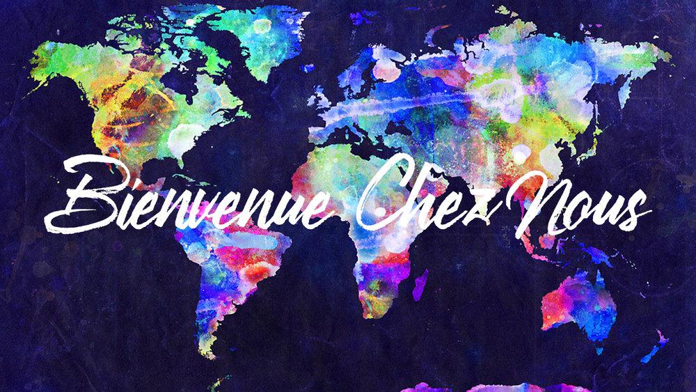 coloré carte dans le monde entier des nations du monde entier en disant bienvenue à la maison