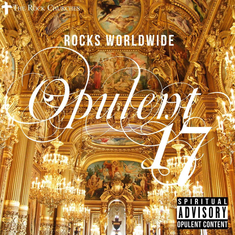 opulent 17 album music cover with golden luxurious palace