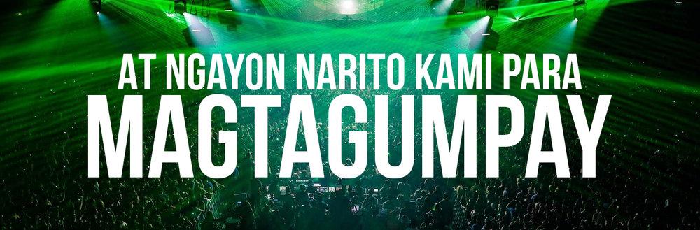 Konsiyerto pagdiriwang sa mga tao sayawan at laser lightbeam lupigin lyrics