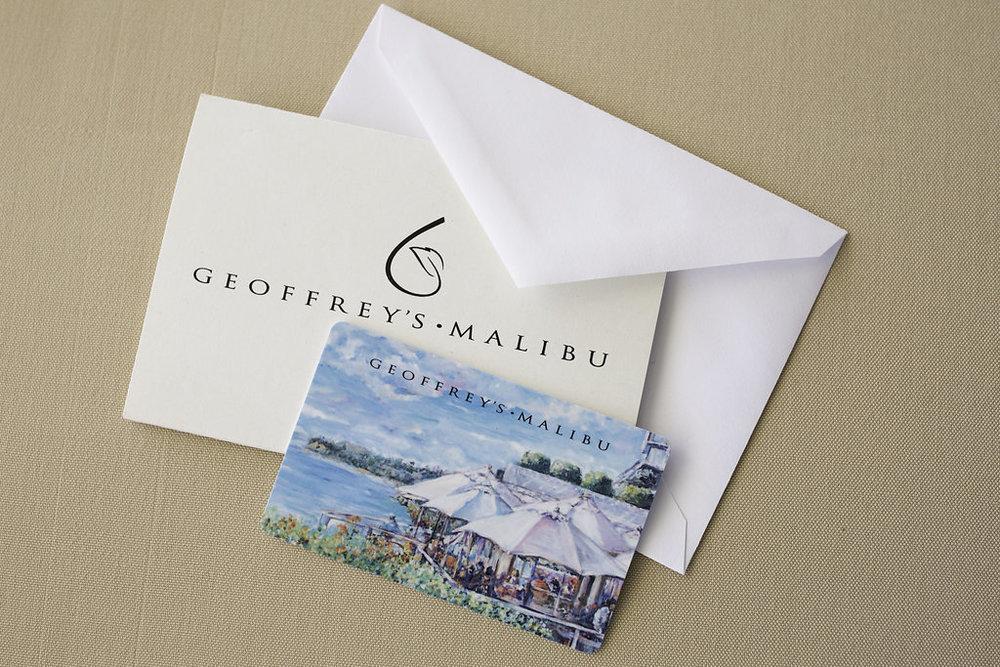 Geoffrey's Malibu Gift Card
