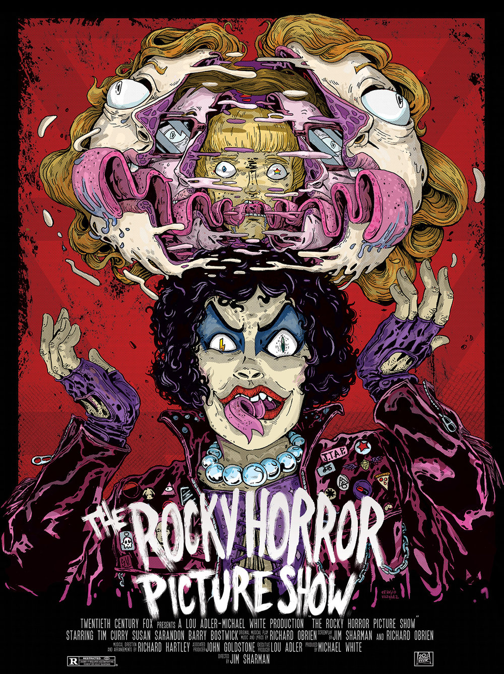 "for ""Rocky horror poster show"" at Caribbean cinemas 2016"