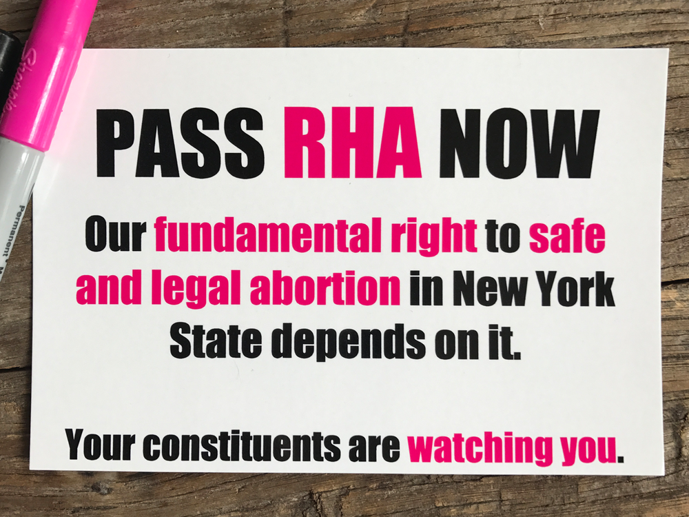 Contact GOvernor Cuomo  - Tell Governor Cuomo to make the RHA a priority. Call him at 518-474-8390. Tweet him at @NYGovCuomo.