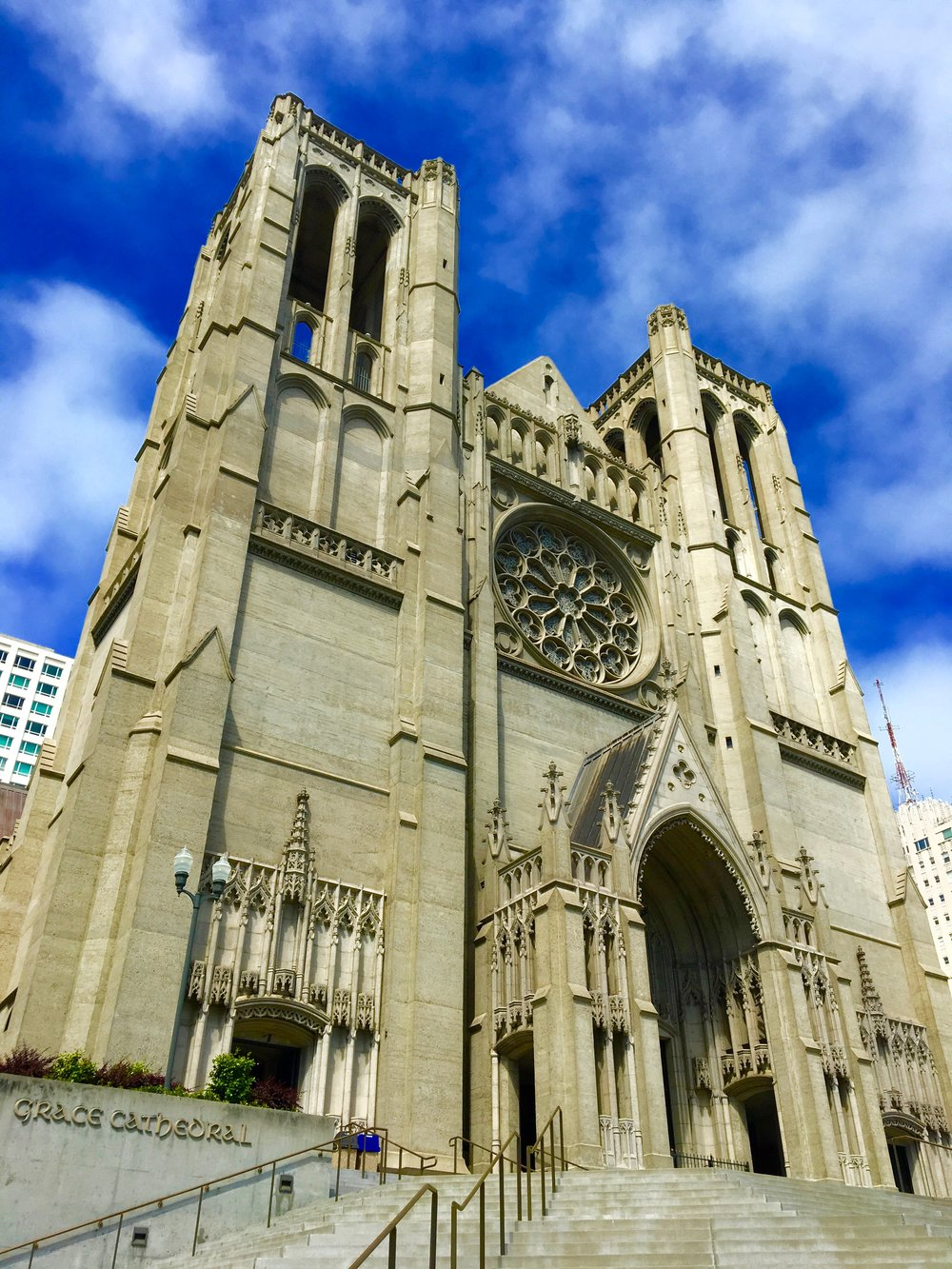 Grace Cathedral, gothic, architecture, church
