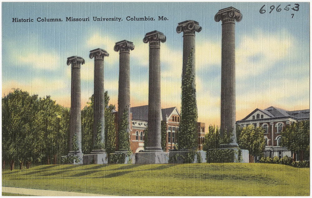columbia missouri columns history