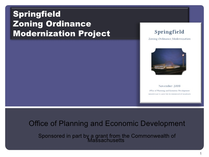 Springfield Zoning Ordinance modernization project.