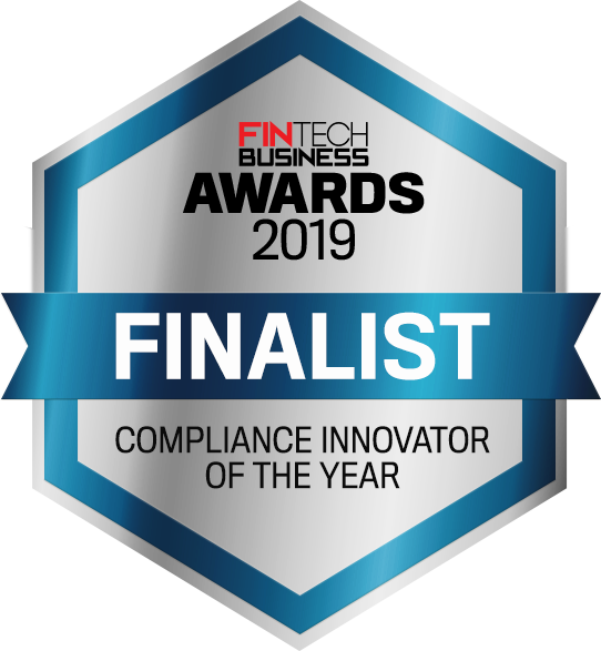 Fintech business awards finalist emblem