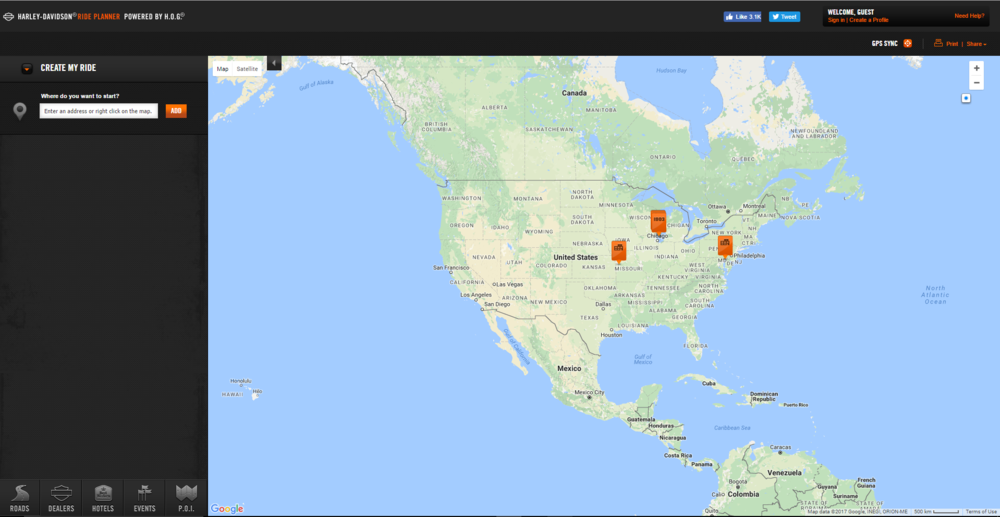 Screenshot of the online application