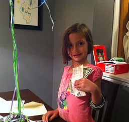 Gabby decided to forgo gifts for her 5th birthday and instead took donations for Expanding Lives. -