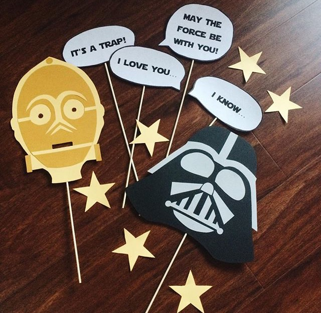 In her free time, Leticia Anaya loves to craft and design her own projects, like these Star Wars-themed party details for her son's birthday celebration.