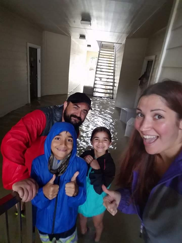 Coppelia keeps a positive & cheerful attitude, even as the first floor of her building is beginning to flood. At the time of posting, Coppelia and her family got word that flooding is expected to double so they will be evacuating soon.