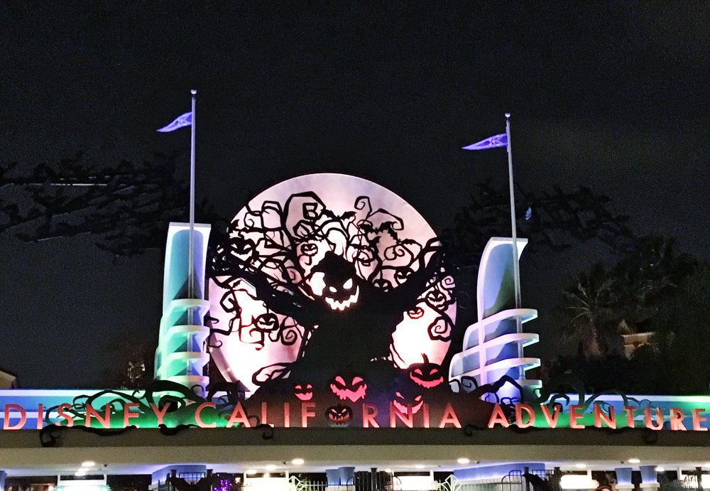 The Disney California Adventure Park featured a giant-sized Oogie-Boogie who has arrived to cast a spell on the Park.