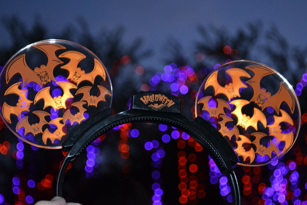 Halloween-themed Mickey ears with light-up bats are currently available at the Disneyland Resort for $24.99