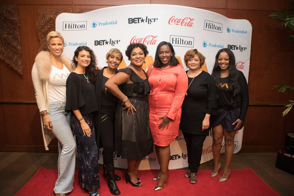 Pictured from Left to Right:      Michele Thornton Ghee, Ana Flores, Dolores Robinson, LaToyia Dennis,    Andrea Richardson, Dorinda Walker and Shanice Wilson)