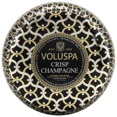 VOLUSPA Noir Collection 2 Wick Candle in Crisp Champagne
