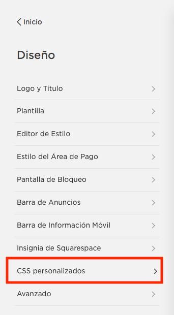 CSS Personalizado