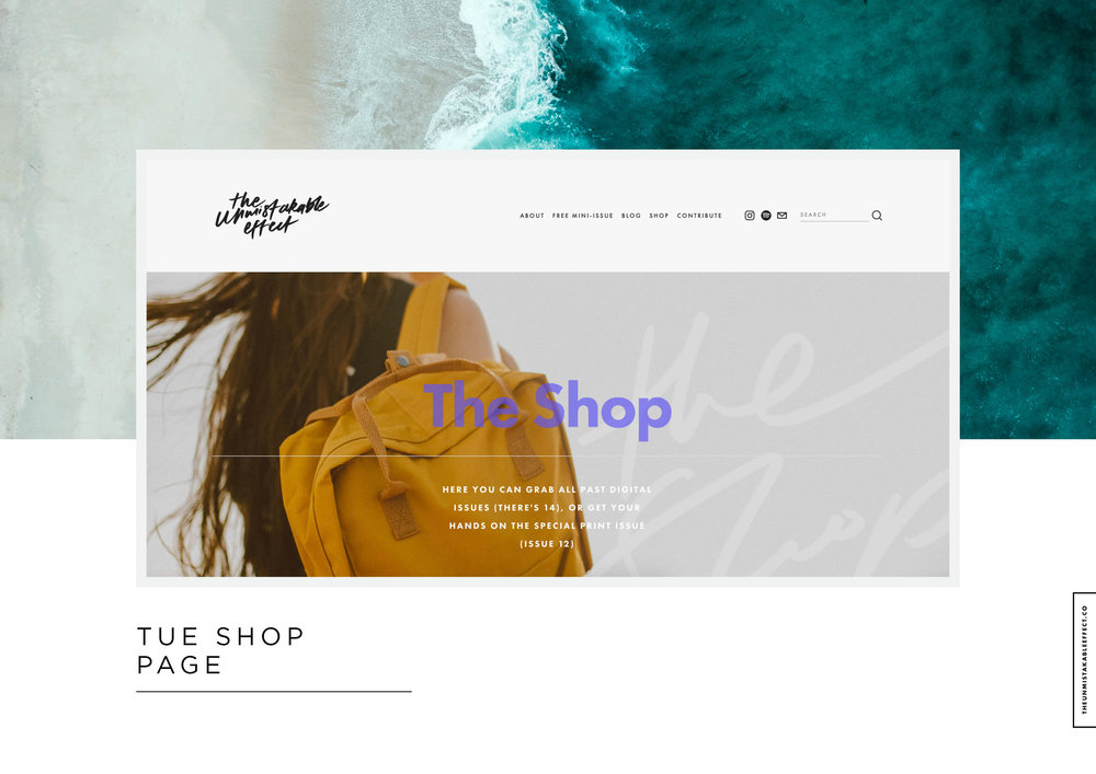 Behind The Scenes :: The Unmistakable Effect Website, Shop + Mailing List | http://theunmistakableeffect.co/