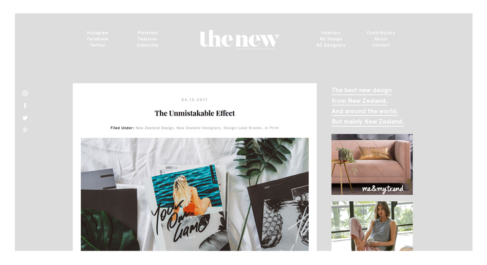 The New NZ | The Unmistakable Effect