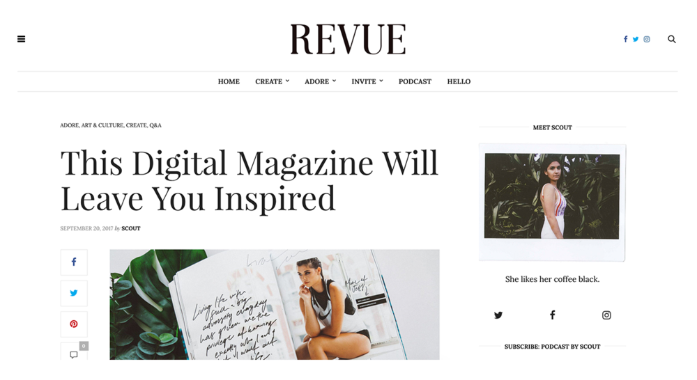 Revue by Scout | The Unmistakable Effect