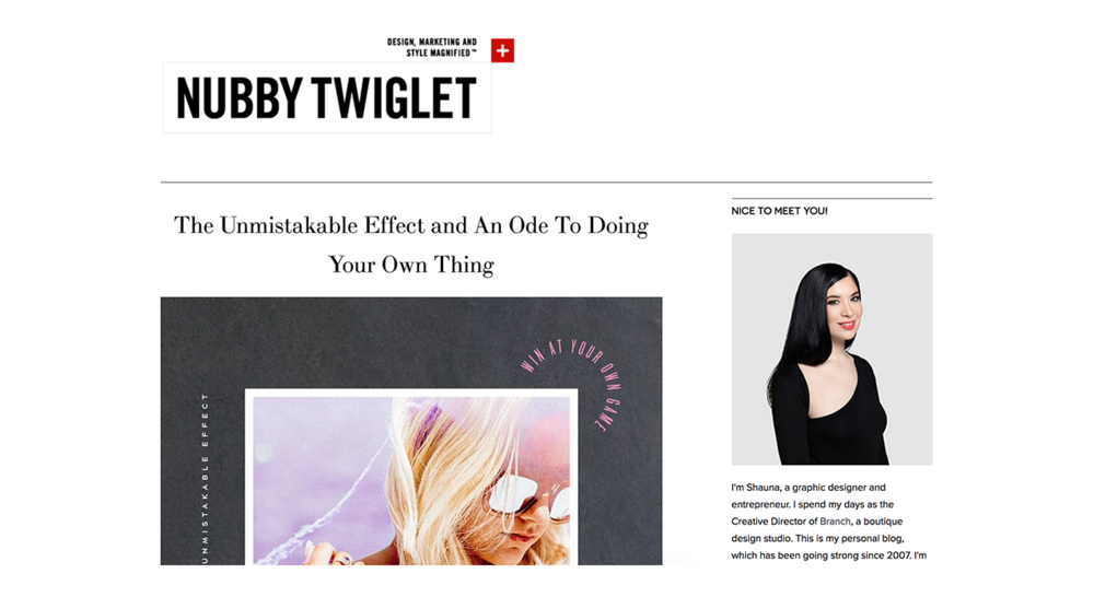 Nubby Twiglet | The Unmistakable Effect