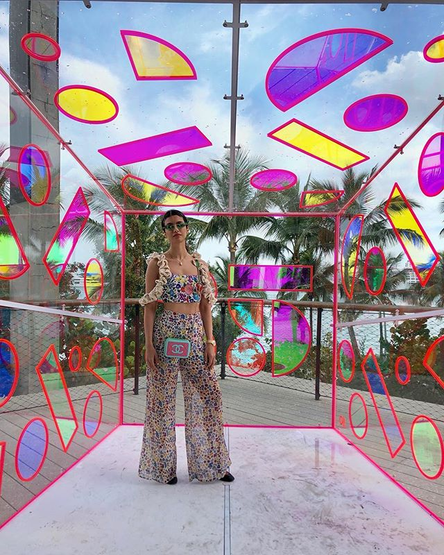 Art Basel Miami, you are always a pleasure and inspiration. Excited to jump back into work and create my next collection! 🍭🎨👘🦋 #artbaselmiami #ninatiari #fashiondesigner #ntinspo