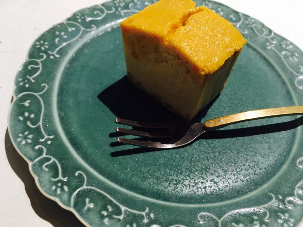 パルズのかぼちゃのチーズケーキ。
