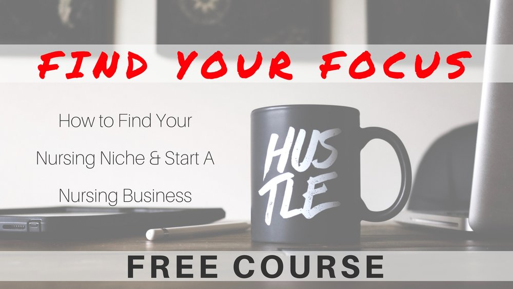 Nurse CEO free course for nurses. Nurse entrepreneur and business owners.
