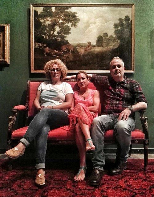 Posado del Jurado de Visionaria 2017 (Ana Fernández, Yanara Moreno y Antonio Bordón) tras la deliberación, en la Casa de Colón.