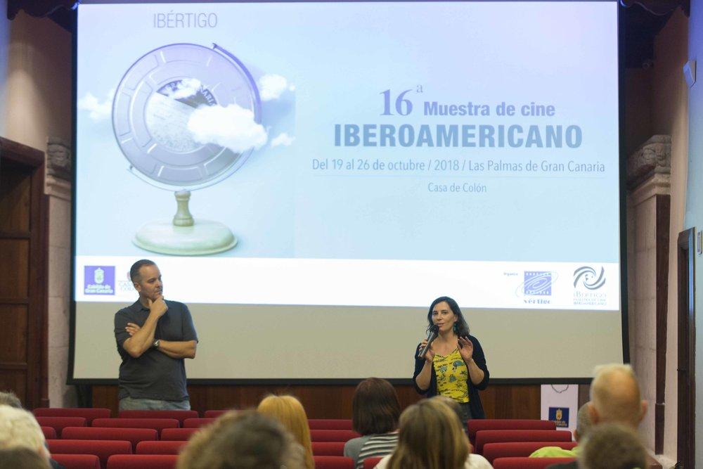 Apertura de Ibértigo 2018, con Milagros Mumenthaler. Proyección de 'Abrir puertas y ventanas'