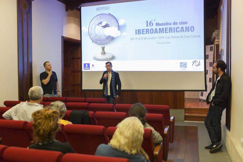 Momento de la presentación de 'El ornitólogo' con João Pedro Rodrigues. Foto: Gustavo Martín