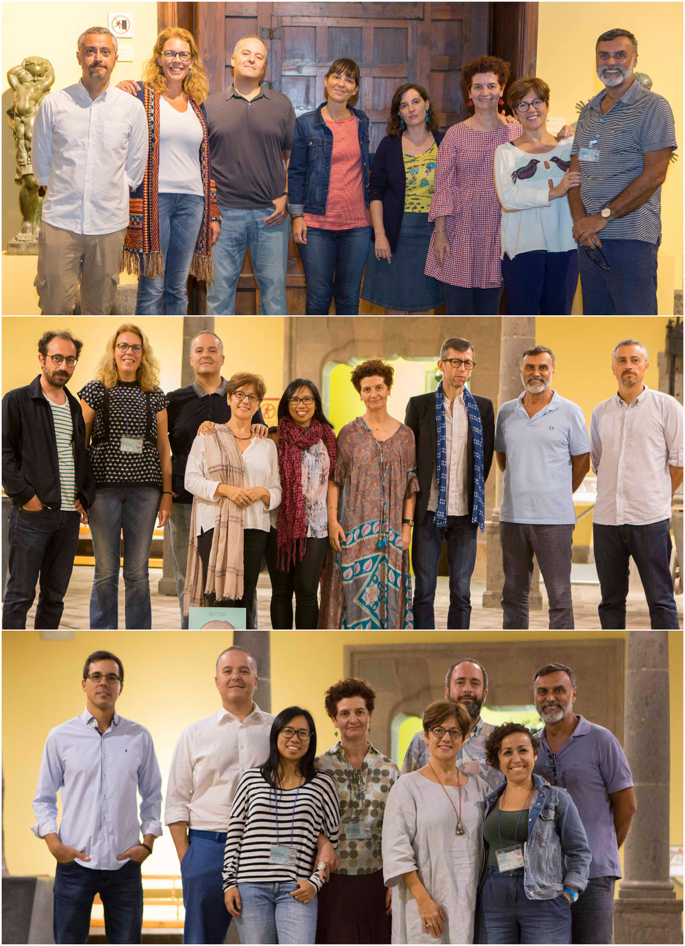 Algunas de las fotografías con integrantes de la Asociación, tomadas durante la celebración de Ibértigo 2018