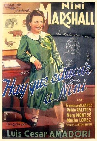 'Hay que educar a Niní', de Luis César Amadori [Argentina, 1940. 95´]
