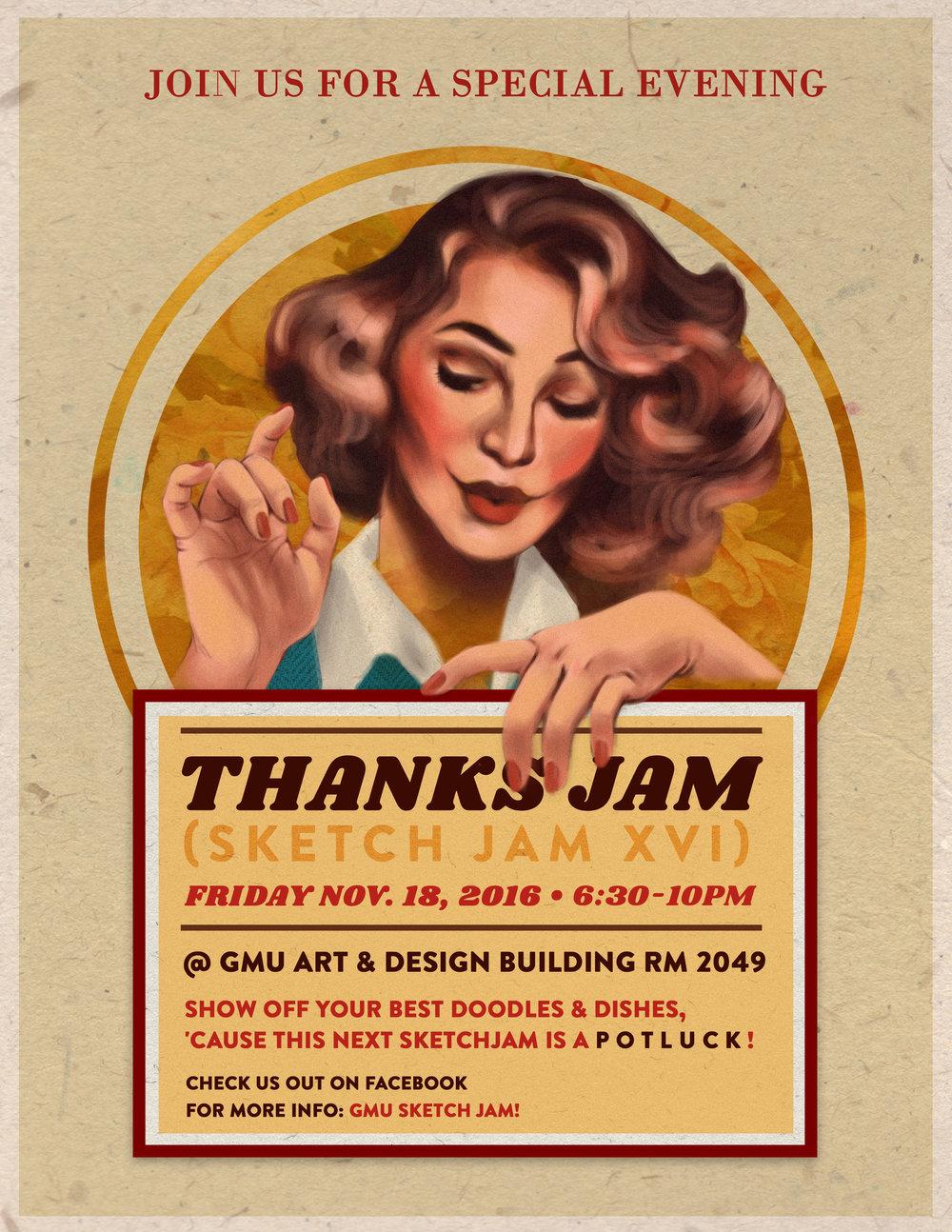 Thanksgiving Sketch Jam flyer