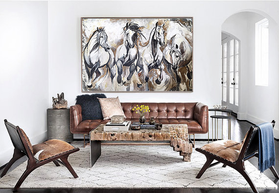 •An artwork can be that little extra touch that can take your space from simply looking functional to appearing as if it should grace the pages of an interior design magazine.•