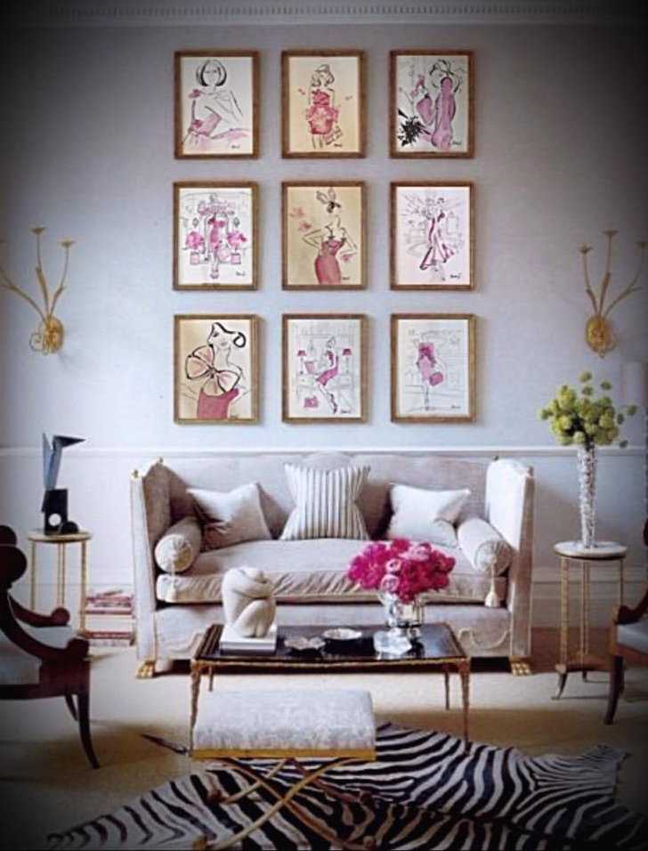 •Get The Classic Girly Look In Your Room. White furniture works best and compliments all shades of pink.•