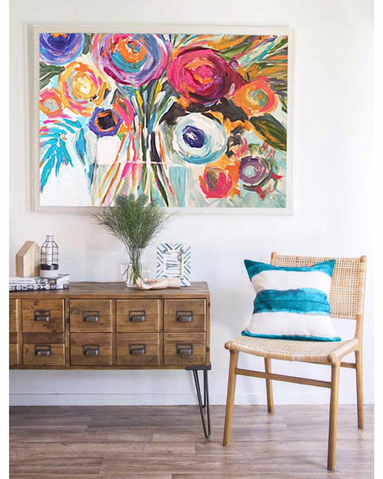 •Summer is as much a state of mind as it is a season, so transform your space to embrace all the benefits it has to offer. Adding a colorful art piece would definitely insert bright summery colors into your home.•