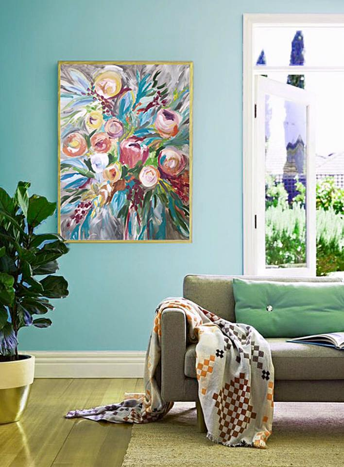 How about getting inspired by color?  Home decorating does not mean you have to swap out everything in a room. Instead, add some colors to refresh your space. Adding an artwork can be the easiest way to achieve this.
