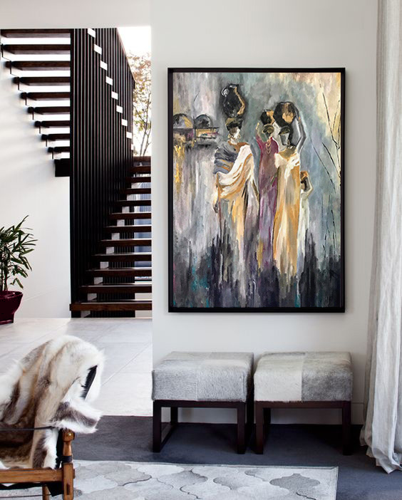 •The key is to choose a piece of art that fits in with the decorating style that you've already chosen for the room.•