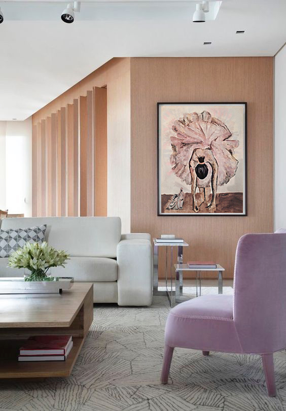 •When paintings are done right, harmony appears by itself. This piece surely creates harmony with the rest of the home furniture, everything here blends together. There is something about this color combination that makes this room so calm and relaxing.•