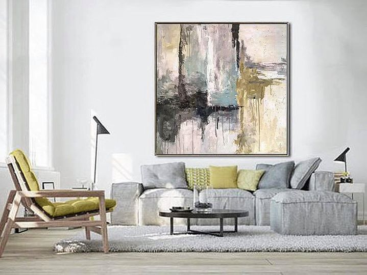 • Abstract art has tremendous flexibility. There's no particular design style that it's best suited for, a single painting can provide an instant color palette for an entire room.•