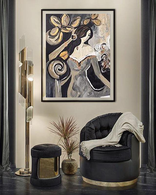 •This mood brings dark, dramatic and luxury all in one scene. This artwork is just right in place.•