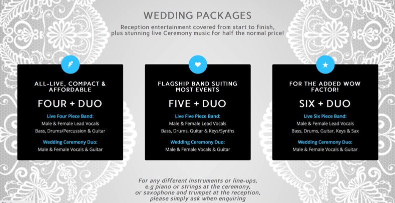 Wedding Package to Hire Band
