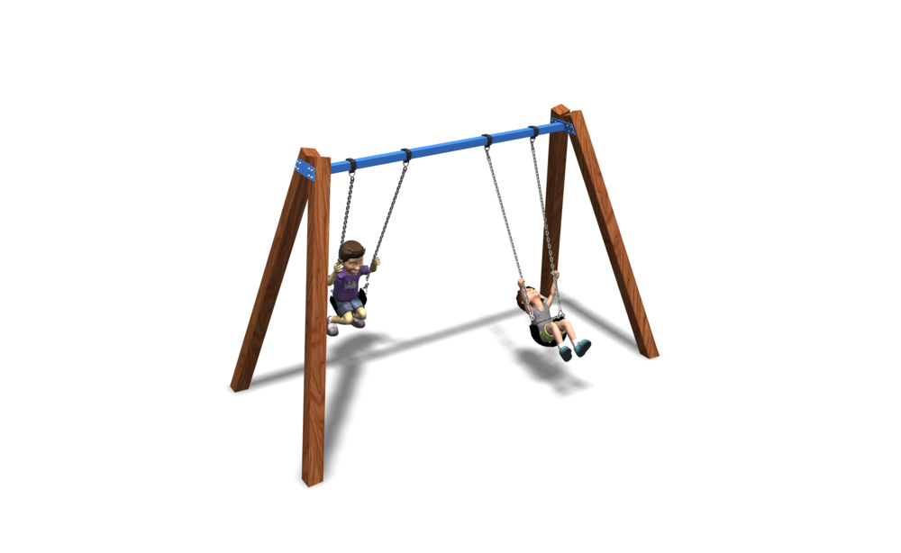 Timber A-Frame Swing - 1 Bay